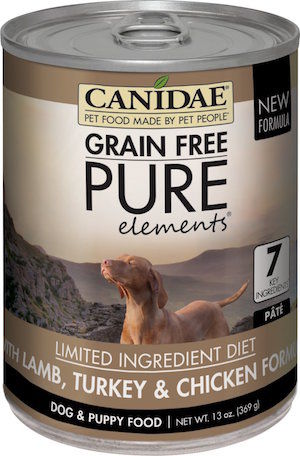 5 Canidae 174 Grain Free Pure Elements Lamb Turkey